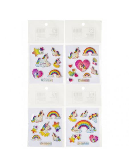Glitterstickers Eenhoorn 7 X 11,5 Cm Kleine Eenhoorn BT